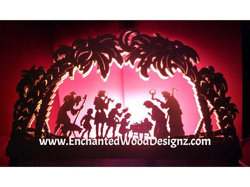"""Nativity German Arch Lamp 1 """"Schwibbogen"""""""