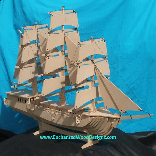 Clipper Ship Sail boat 3D Puzzle