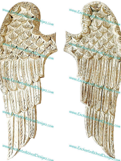 Angel Wings White Sparkle