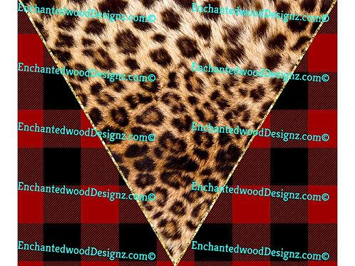 Cheetah Flannel Christmas 12x12 wrap