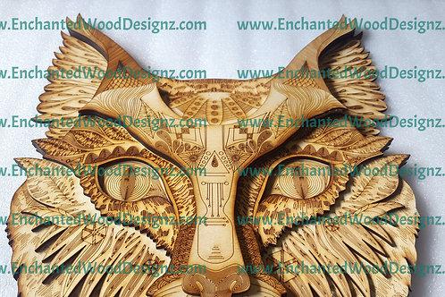 Tribal Cat Layered