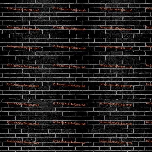 Black brick wall Print 12x12 sheet Pattern