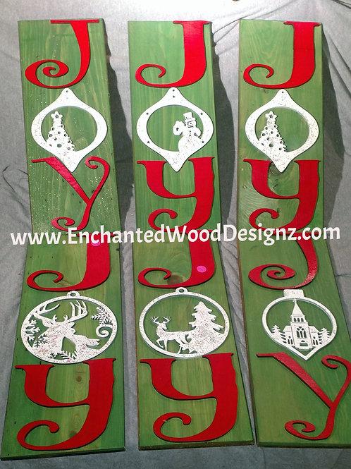 JOY Christmas Sign -Ready to hang