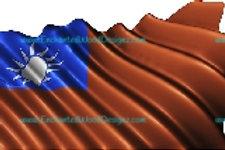 Tiawan Flag Waving Flag