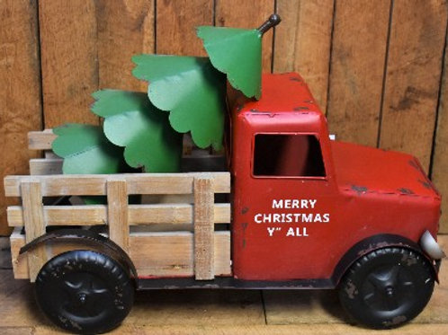 December Challenge - Metal Truck & Christmas Tree