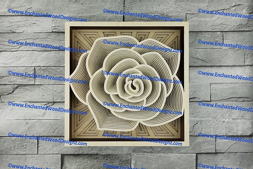 3D Rose Mandala 15 LAYERS !! WOW!