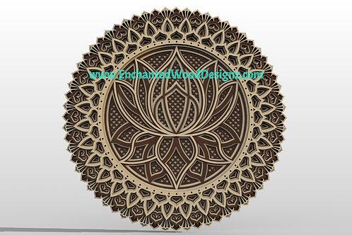 Layered Lotus Flower -7 layers