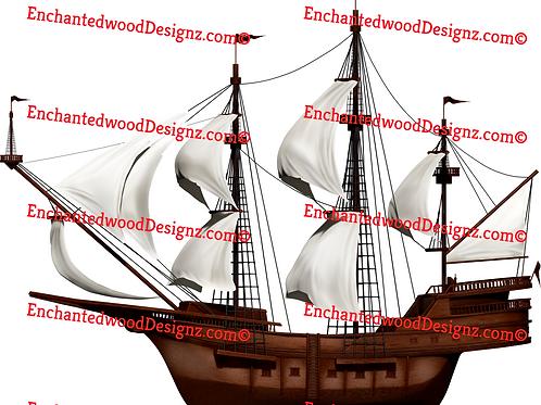 Side of Vintage Ship