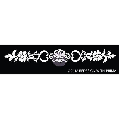 Prima Redesign Silk Screen Stencil - Olevia Border