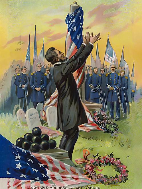 - American School - Lincolns address at Gettysburg  - (MeisterDrucke)
