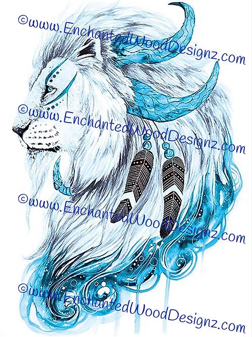 Boho Tribal Lion Simple Applique