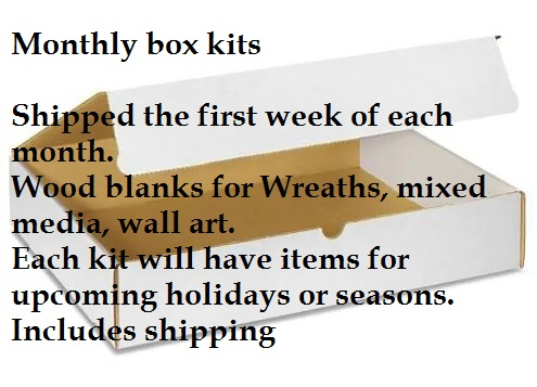 Wood Blanks Monthly box kit