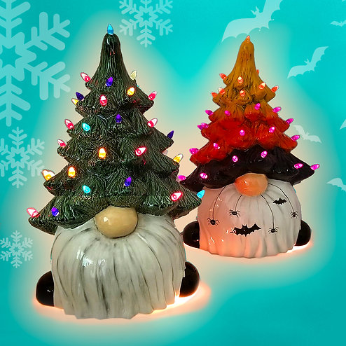 Pre-Order - October Challenge Gnome Light up Tree
