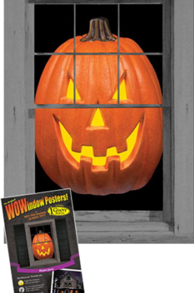 "WOWINDOW HAPPY JACK HALLOWEEN TRANSLUCENT WINDOW POSTER 35"" x 60"" SEALED NEW"