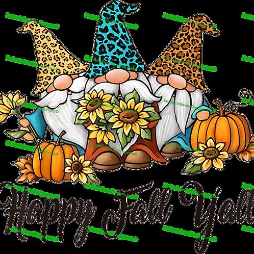Happy Fall Y'all Gnomes 2