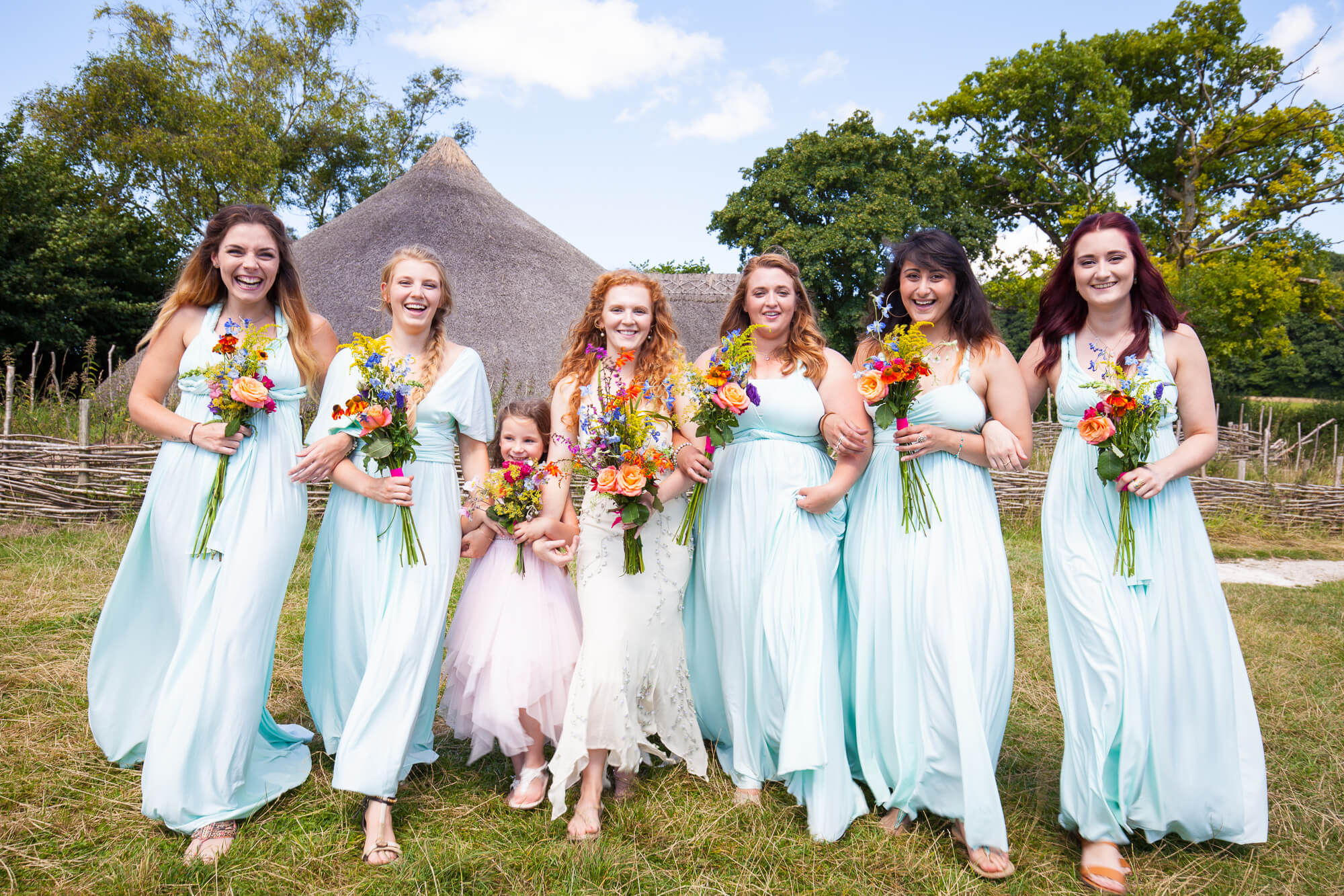 Wedding photography, bridesmaids