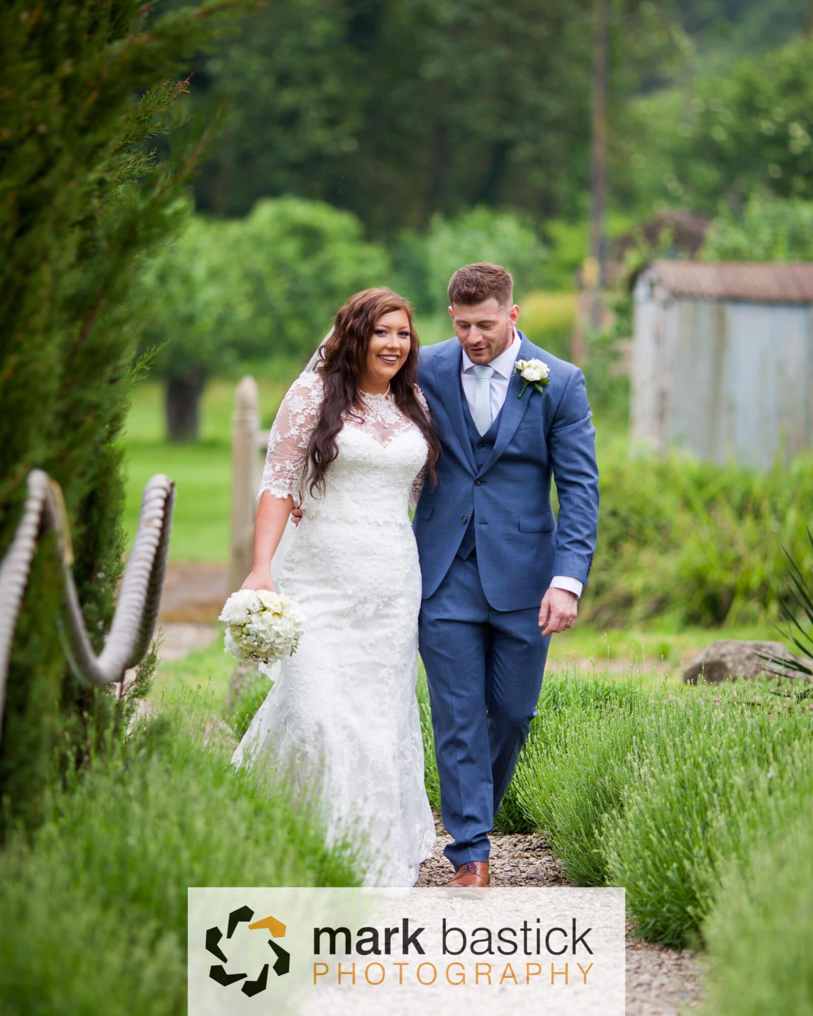 Bride and Groom, Wedding at Manor Barn, Wiltshire