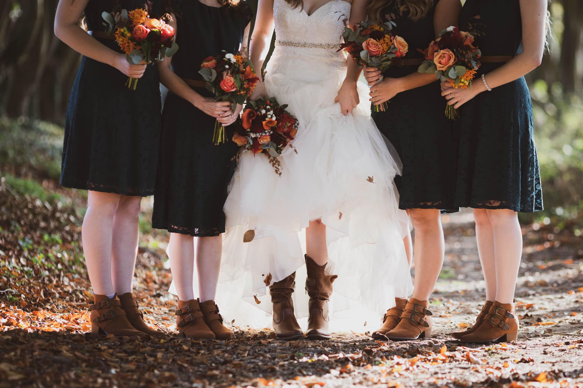 Bride and Bridesmaids boots, Salisbury wedding, Wiltshire