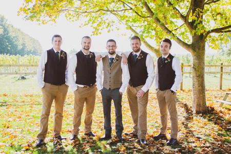 Salisbury Wedding Photographer, Groom and groomsmen