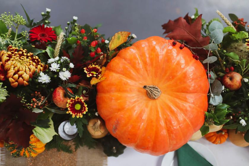 pumpkin at wedding table