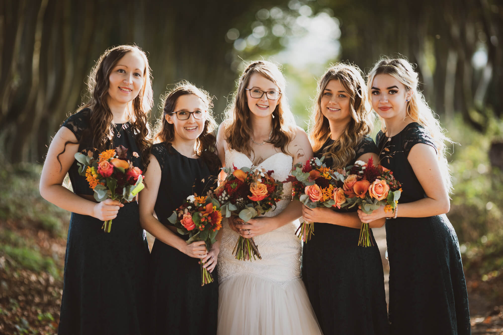 Bride and Bridesmaids, Salisbury wedding photography, Wiltshire