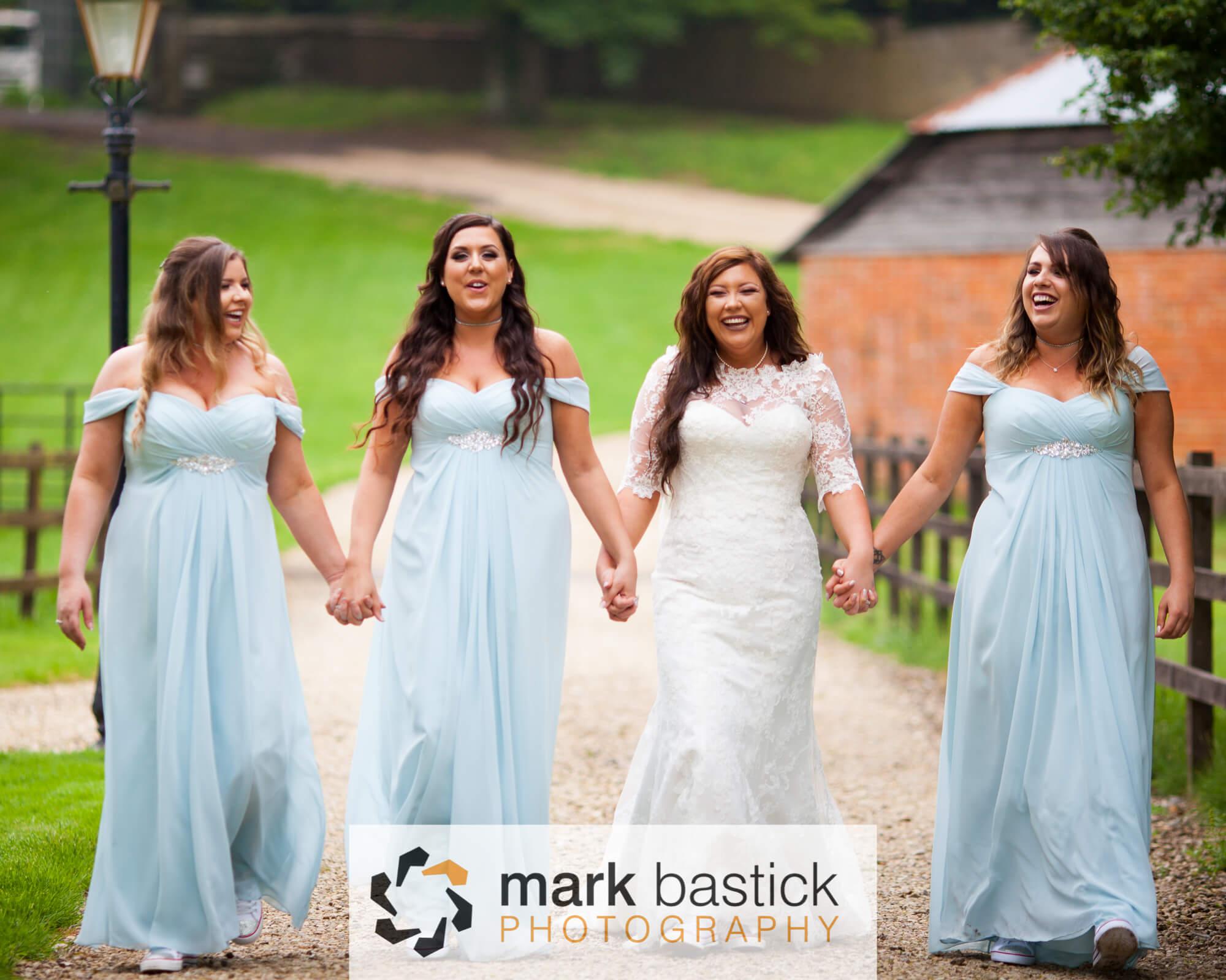 Bride and Bridesmaids, Manor Barn, Wiltshire