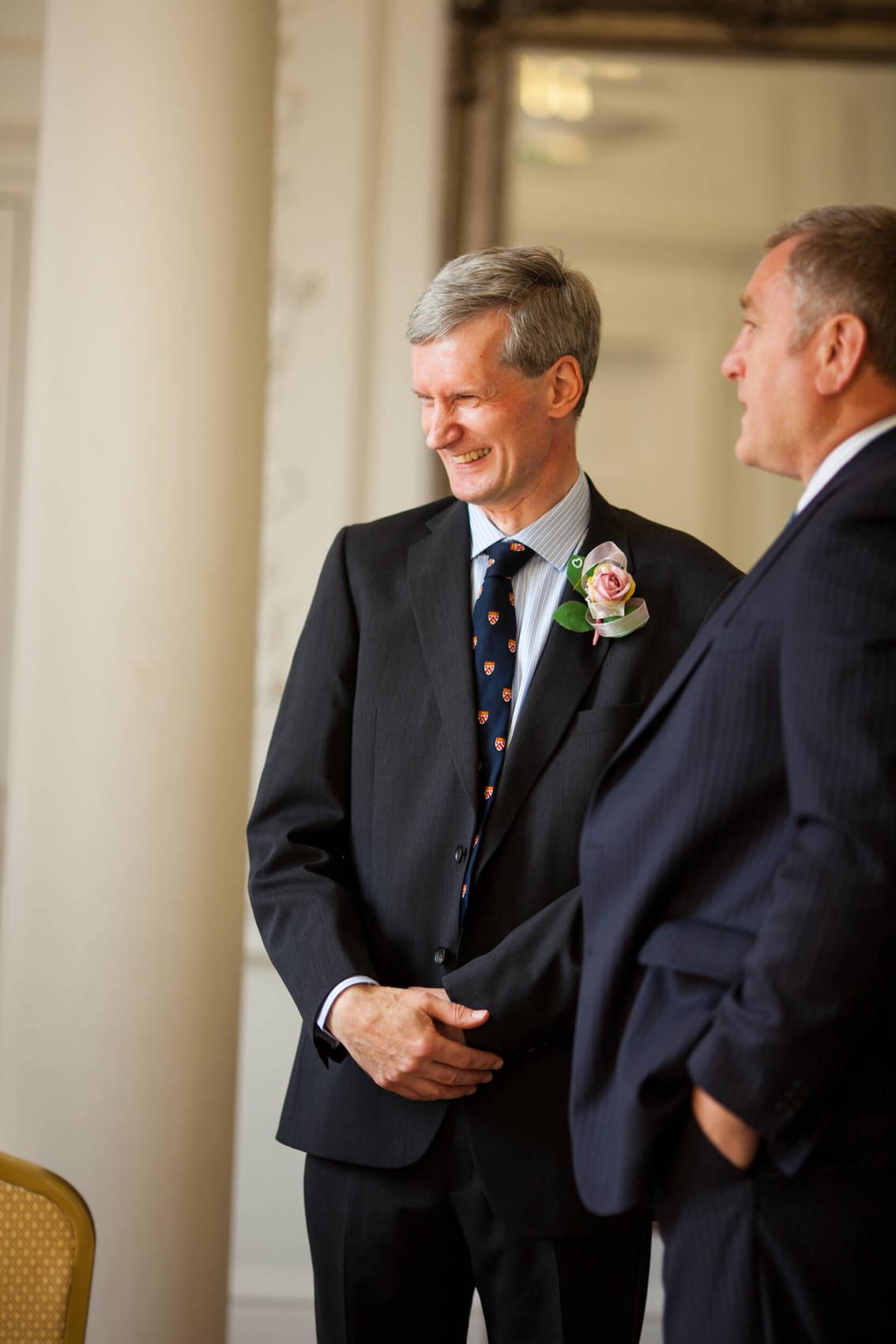 Wedding photography at Salisbury Registry office, groom