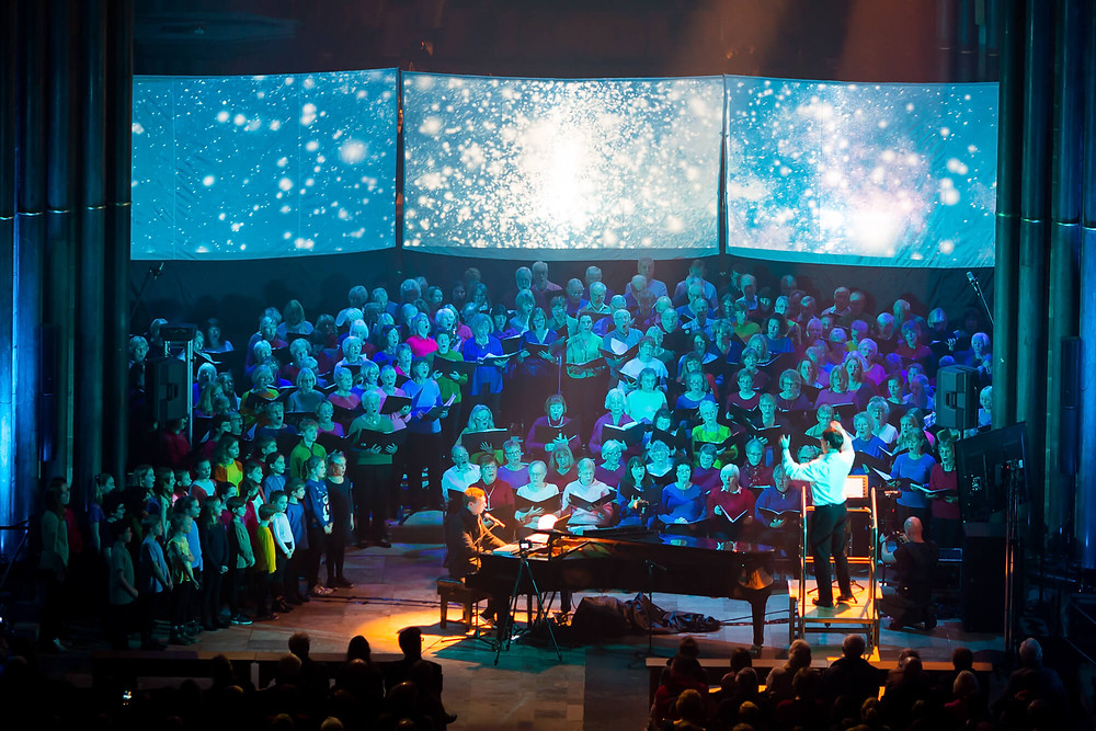 Songs of the light at Salisbury Cathedral, Wiltshire
