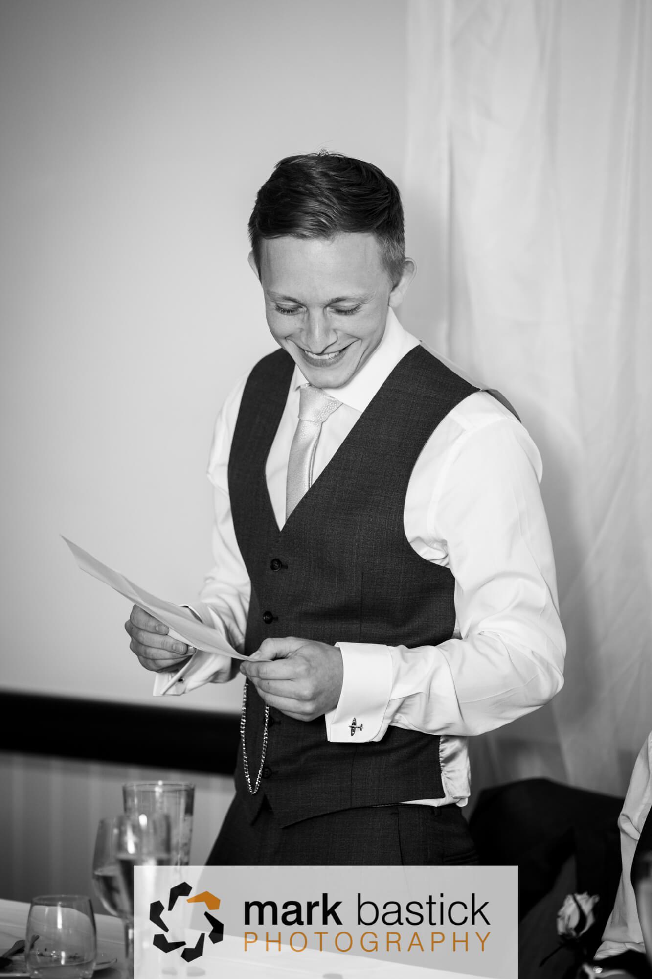 Wedding speech, Wedding at Manor Barn, Wiltshire