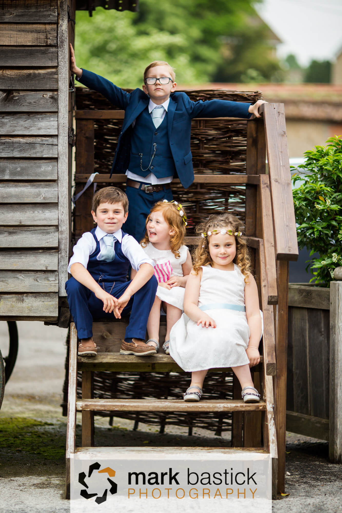 Children at Wedding at Manor Barn, Wiltshire