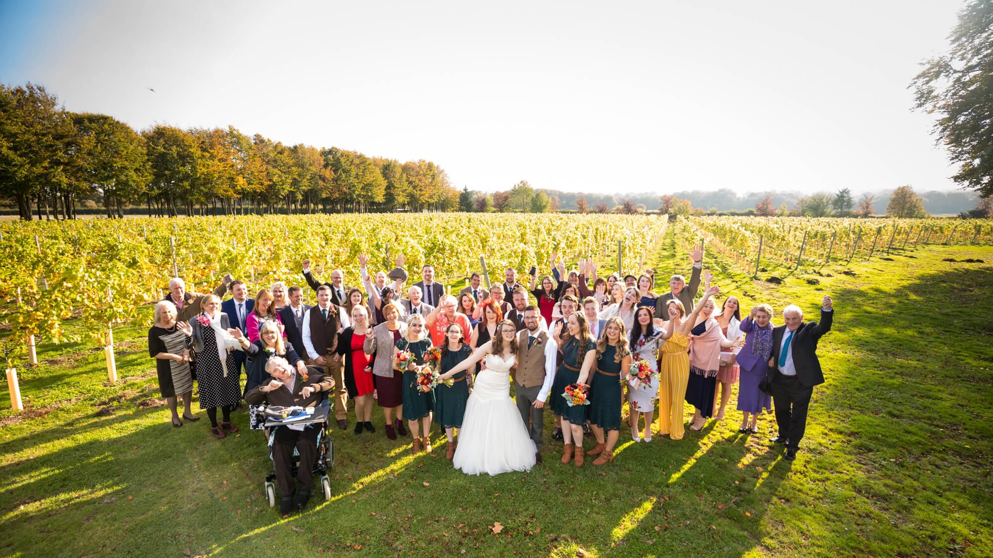 Salisbury wedding photographer, wedding party, vineyard