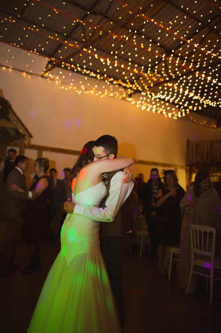 Wedding at Cholderton Charlies Farm, first dance