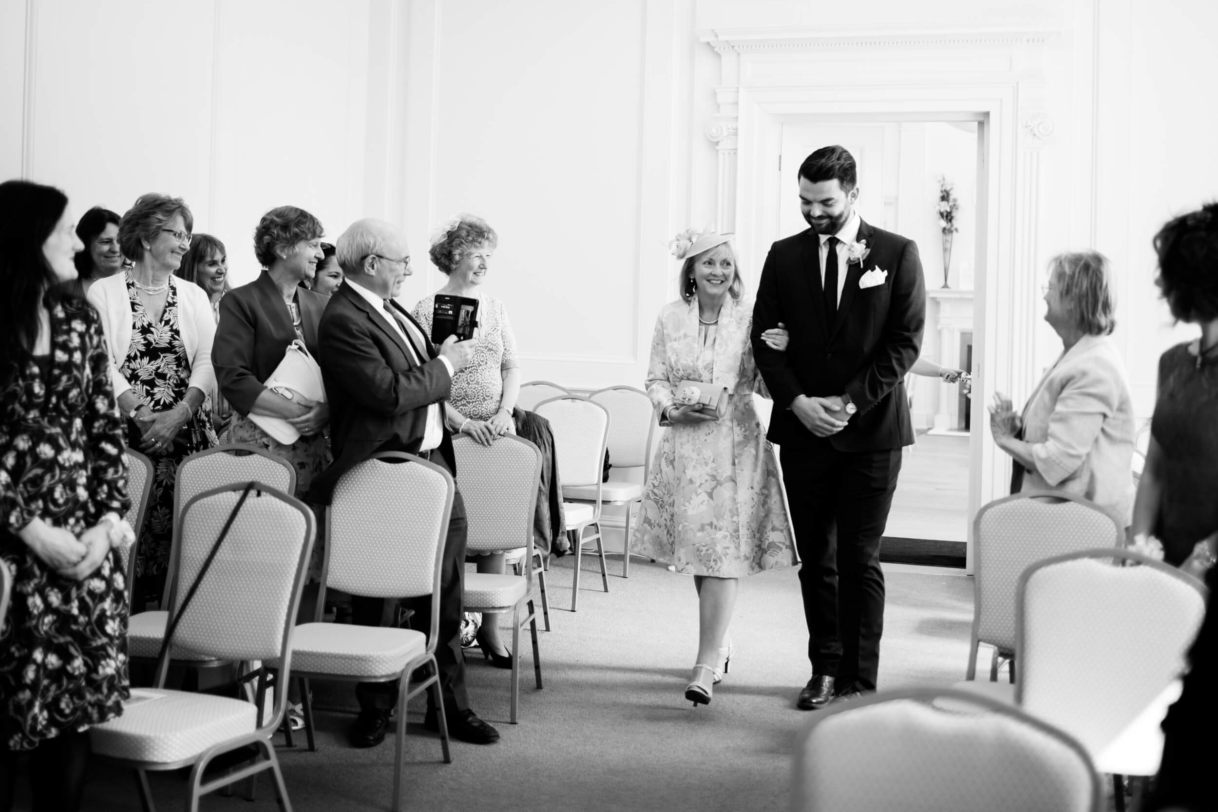 Wedding photography at Salisbury Registry office, here comes the bride