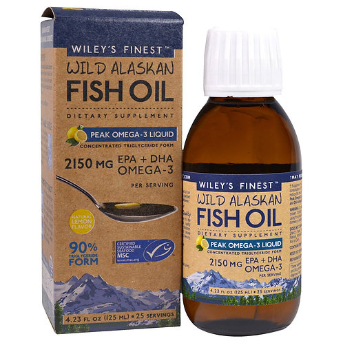 Wiley's Fish Oil Peak Omega 3 125 ml liquid