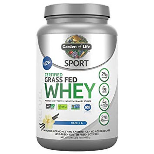 Garden of Life Grass Fed Sport Whey Protein