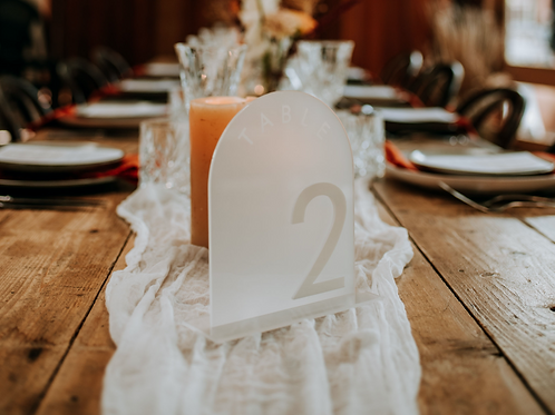 Frosted Acrylic Wedding Pack