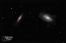 galaxia de Bode & galaxia del cigarr