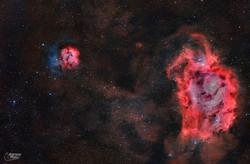 nebulosa Trifida y laguna