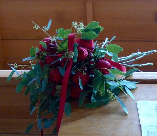 Gästeempfang in der Kirche