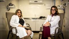 Doutoras Maria Cristina Galafassi e Michele Crisci