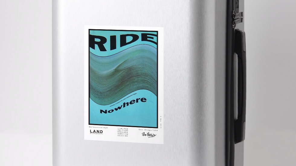 Ride Nowhere large sticker