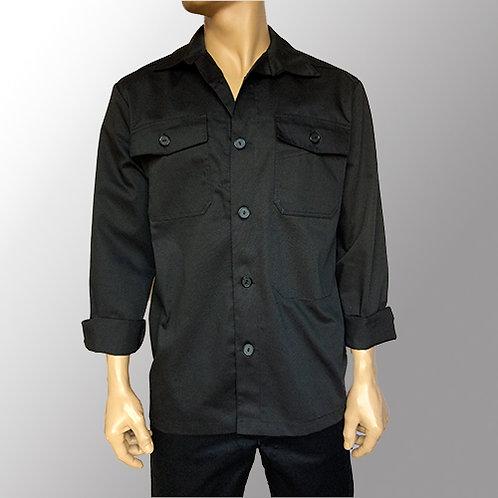 Herreskjorte - Langærmet til sorte knapper