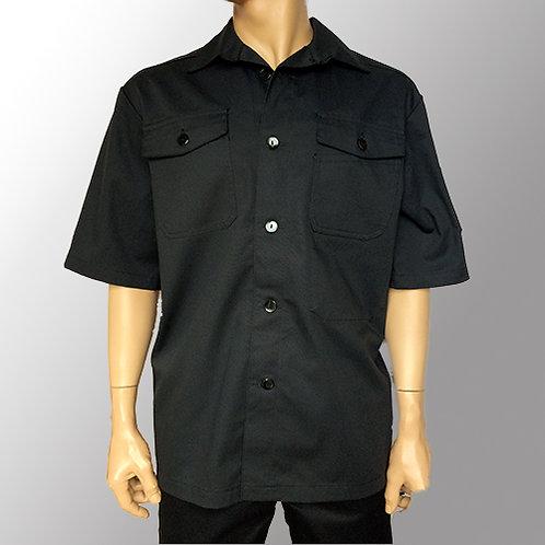 Herreskjorte - Kortærmet til sorte knapper