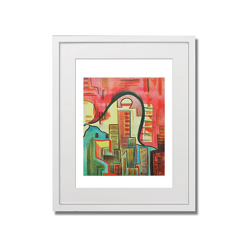"The City - 12""x16"" - Limited Edition Signed Print with Frame"