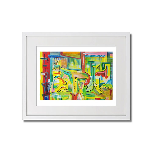 "Pulling Roots: Minor Rearranging - 12""x16"" - Limited Signed Print with Frame"