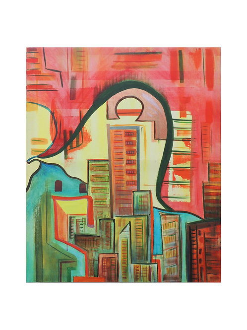 """The City - 12""""x16"""" - Limited Edition Signed Print"""