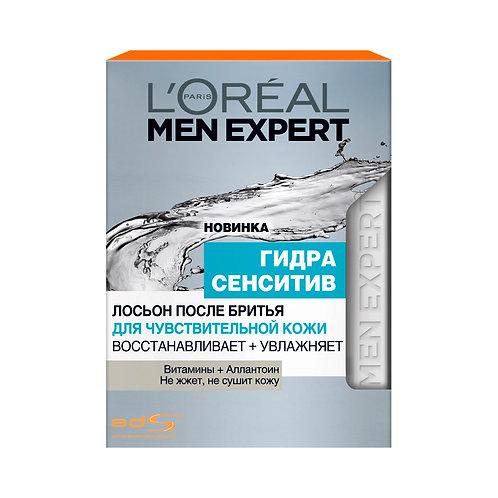 """L'Oreal Men Expert Лосьон после бритья """"Гидра Сенситив"""", для чувствительной кожи"""