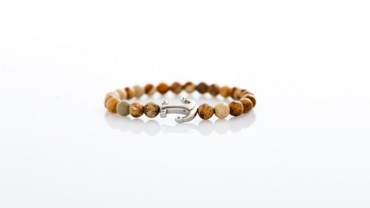 "Bracelet à pierre en ""Jaspe Paysage"""