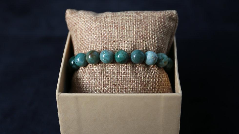 Bracelet à pierre Jaspe Sanguin Vert