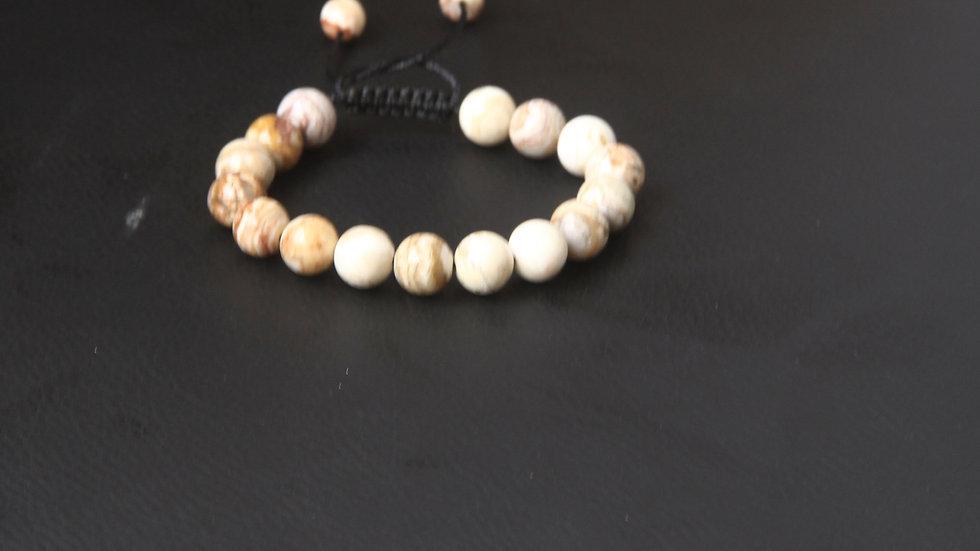Bracelet à pierre Agate Crazy